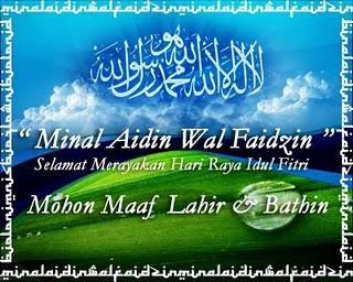 Minal Aidin Wal Faidzin - Mohon Maaf Lahir Batin - hari kemanangan - Hari Raya Idul Fitri - Adha - Lebaran
