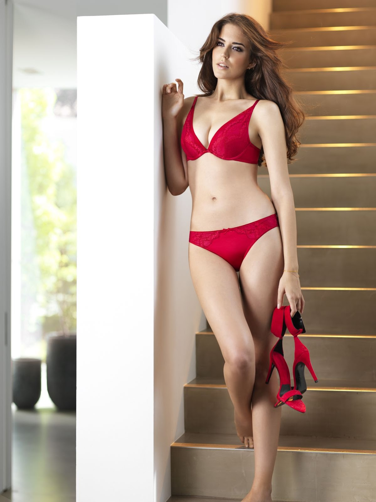 Clara Alonso in Red Hot sexy Bra and Panties for Triumph Toast To Red Collection Sexy hto ass of  Clara Alonso
