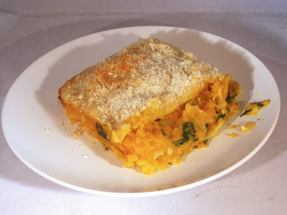 Butternut Squash-Goat Cheese Lasagna (adapted from Fine Cooking)