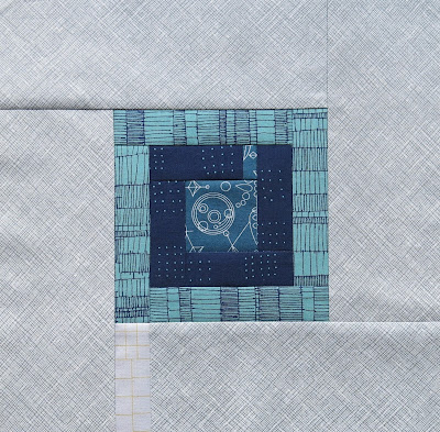 Modern sampler quilt - Block #1 - Inspired by Tula Pink City Sampler