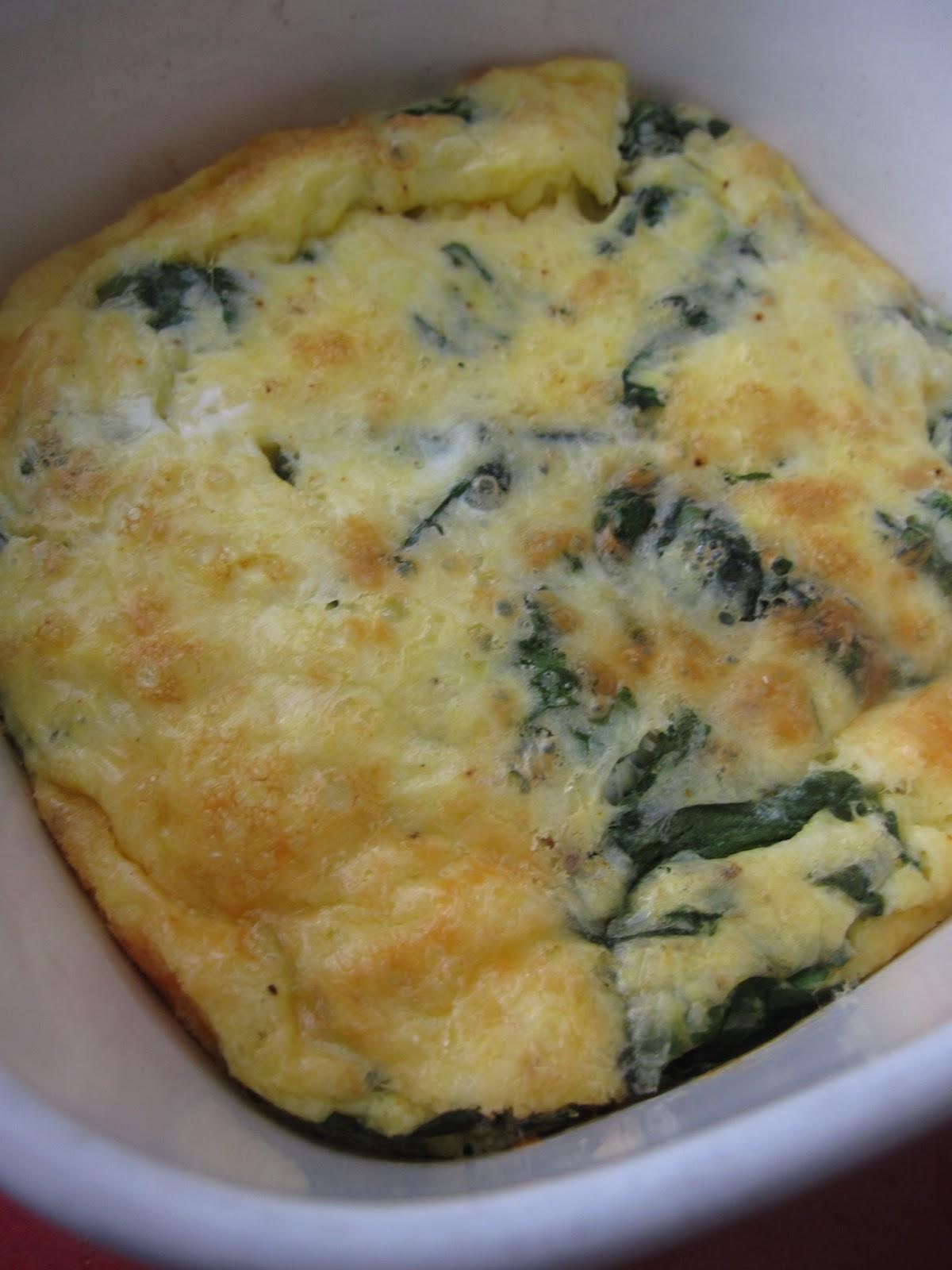 Mozzarella, Spinach and Egg Bake