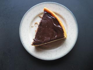 Tarta de queso y chocolate, receta