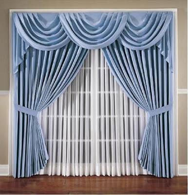 Bonitos modelos de cortinas decorando mejor for Modelos de cortinas para salon