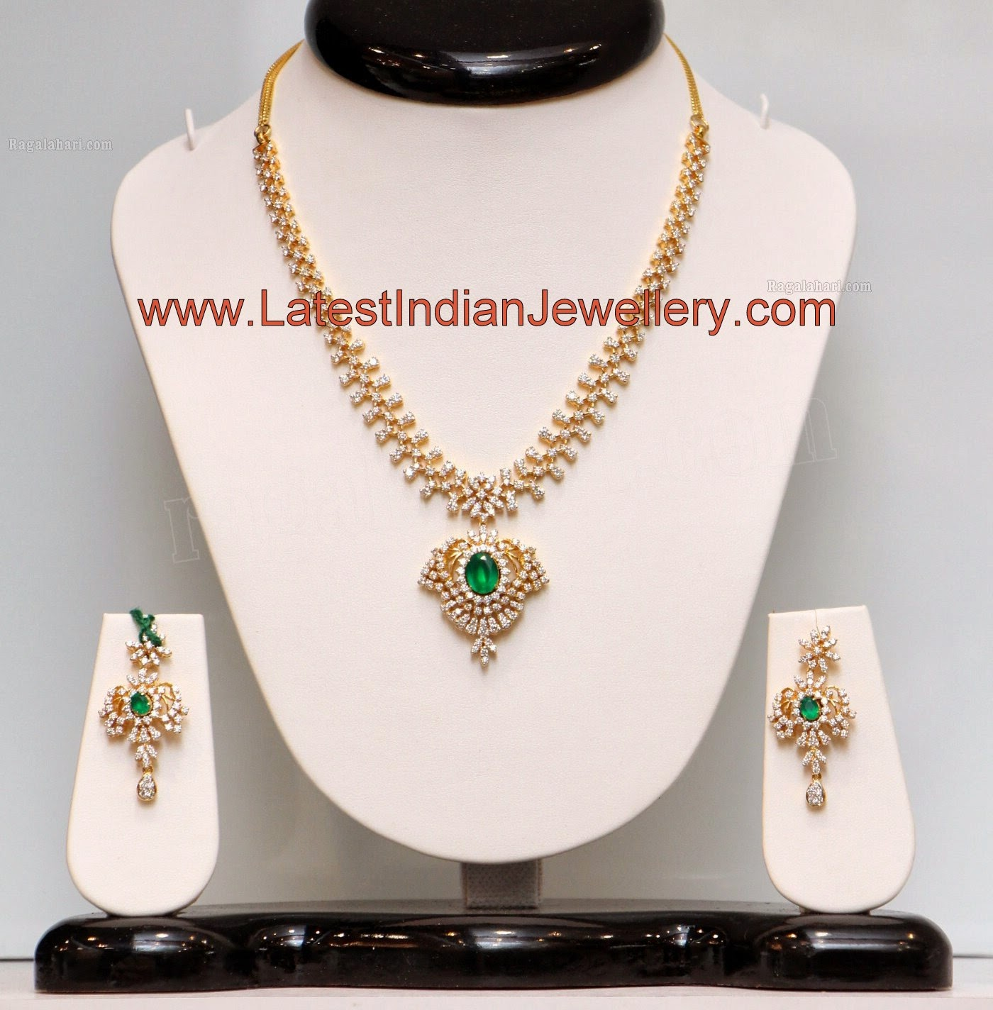 Simple Indian Diamond Necklace