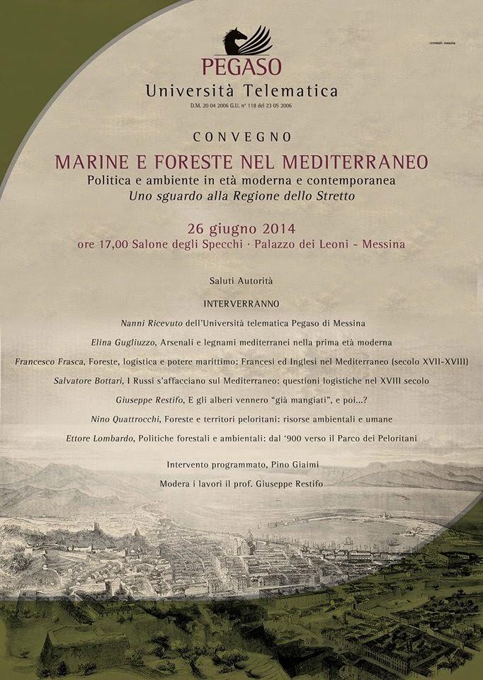 """UNIPEGASO MESSINA: CONVEGNO """"MARINE E FORESTE NEL MEDITERRANEO"""""""