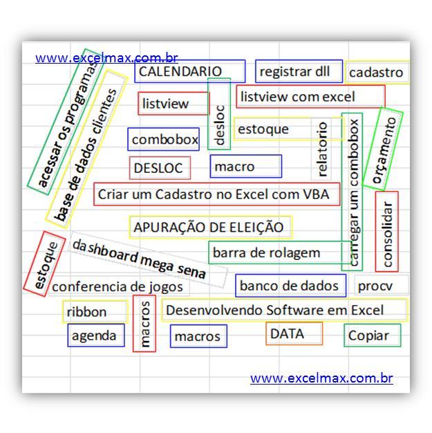 palavras, mais utilizadas, para, pesquisar, ExcelMax Soluções, Excel