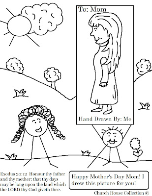 Free Mother's Day for Sunday School Coloring Page
