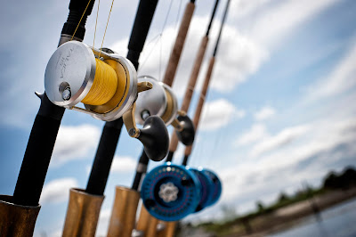 Rods typical used on an fishing excursion with Escott Sportfishing