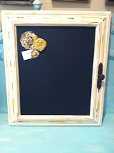 Sold- Chippy yellow chalkboard