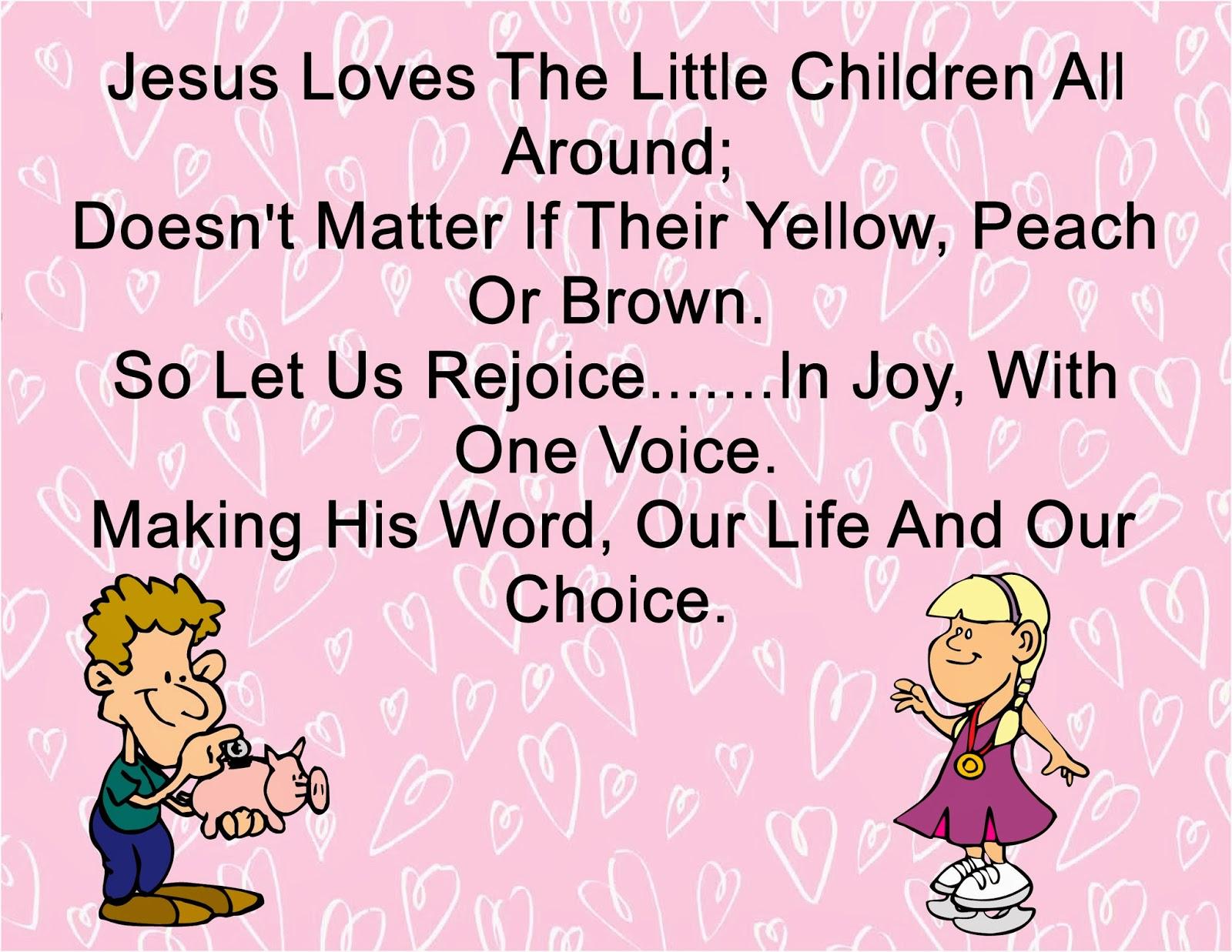 Children\'s Gems In My Treasure Box: Jesus Loves The Little Children ...