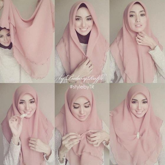 tutorial hijab pashmina 2016