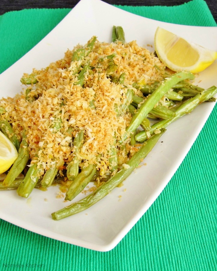Roasted Green Beans with Panko & Lemon Recipe | Nomsies Kitchen