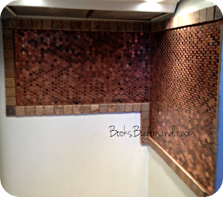 Amanda's penny backsplash step three