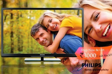 Groupon : BuyPhilips & Haier LED Televisons upto Rs. 5000 cashback and 10% off from Rs. 10749
