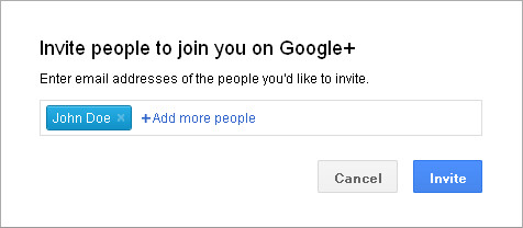 Google+ Circles: Invite People