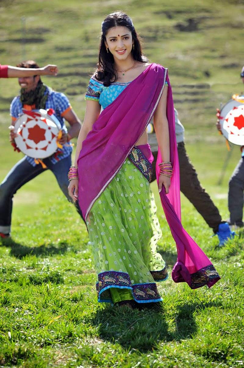 S, Shruti Hassan, Shruti Hassan Hot pics, HD Actress Gallery, latest Actress HD Photo Gallery, Latest actress Stills, Telugu Movie Actress, Tollywood Actress, Saree pics, Half Sari photo Stills, Shruti Hassan Telugu movie actress Half Saree & Saree Still