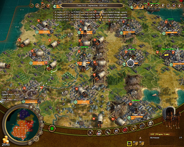Civilization 4 Colonization - Wagon Train Usage Screenshot