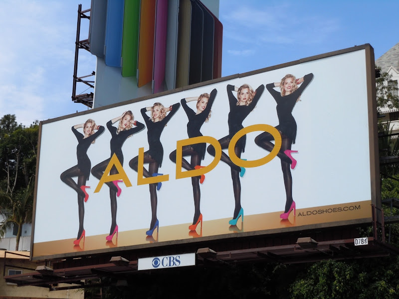 Aldo Shoes colour heels billboard