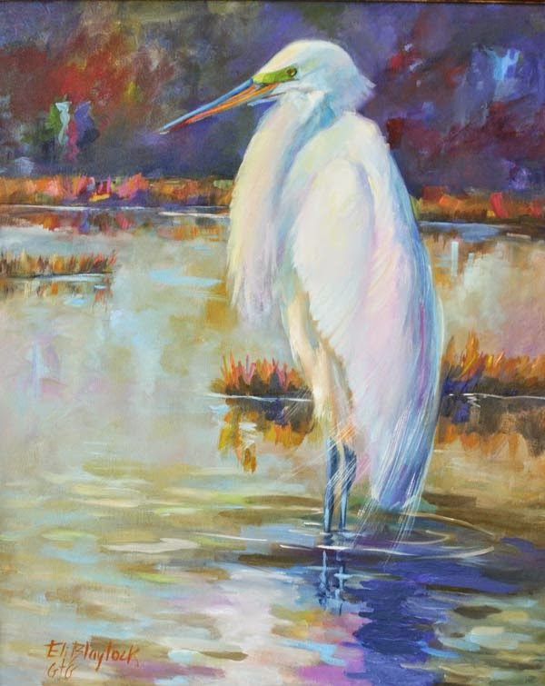 Daily paintings by elizabeth blaylock american for White heron paint