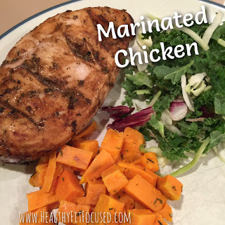 Marinated Chicken, 21 Day Fix recipe, www.HealthyFitFocused.com, Julie Little Fitness