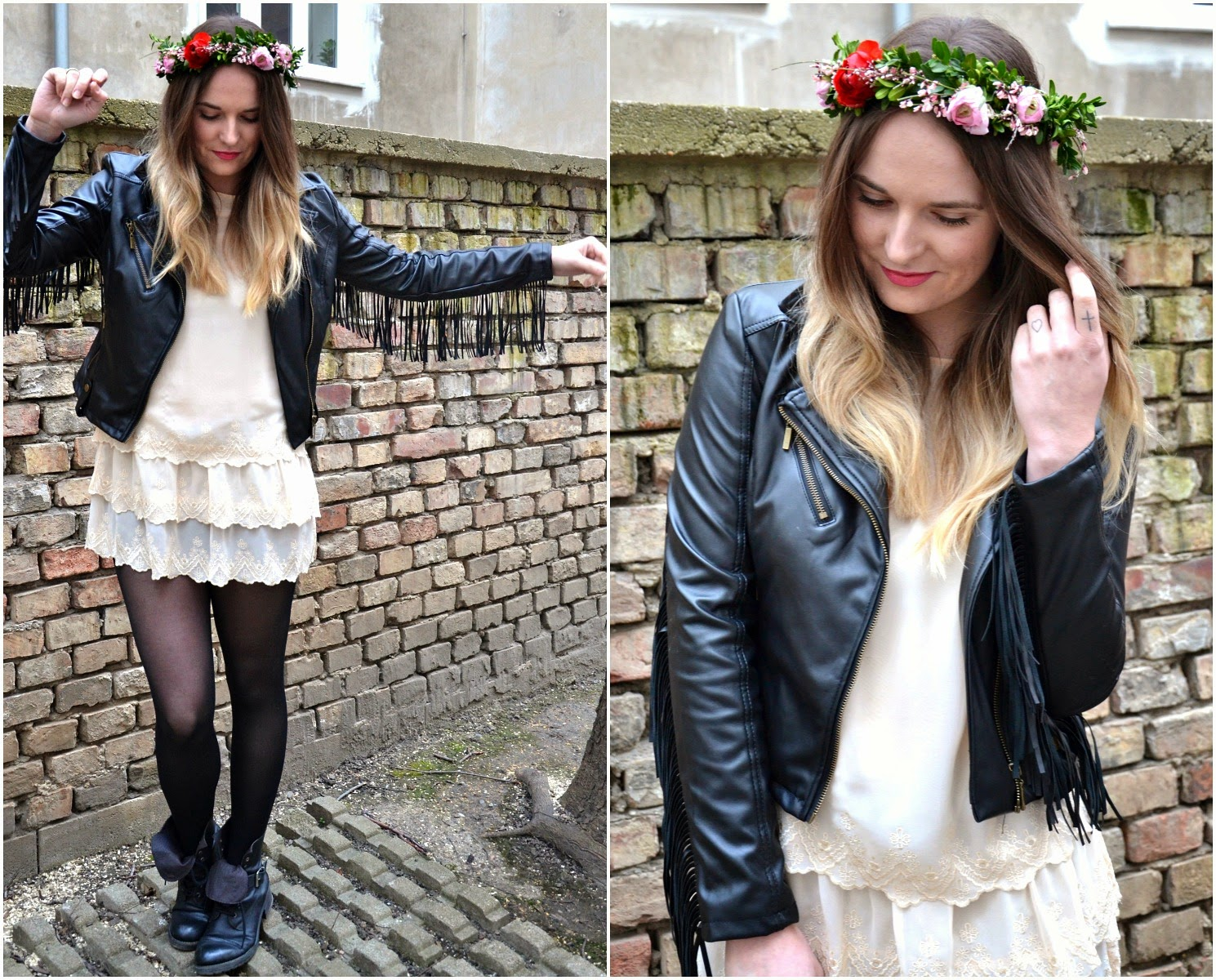 Stereotypically Me Fringe Lace Flower Crown