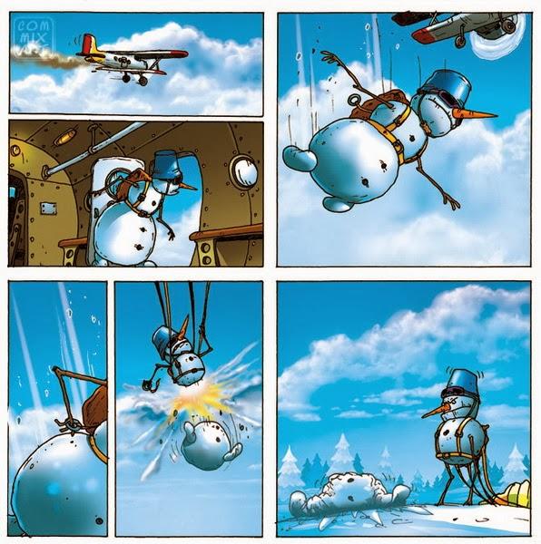 Снеговик парашютист