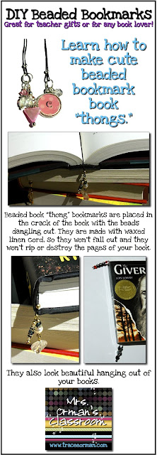 DIY beaded bookmarks tutorial www.traceeorman.com