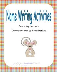 Name activities, book activities, Chrysanthemum, free pdf
