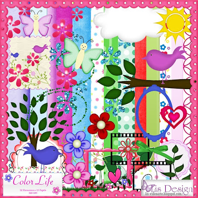 "Free scrapbook kit ""Color Life"" from lisdesign"
