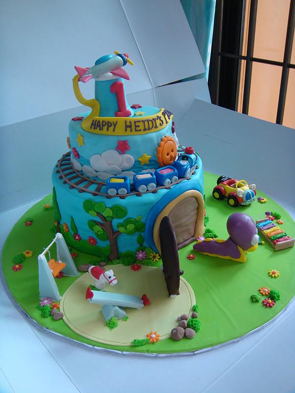 Yummy Baking Babytv Tulli Snail Fondant Cake 2 Tier