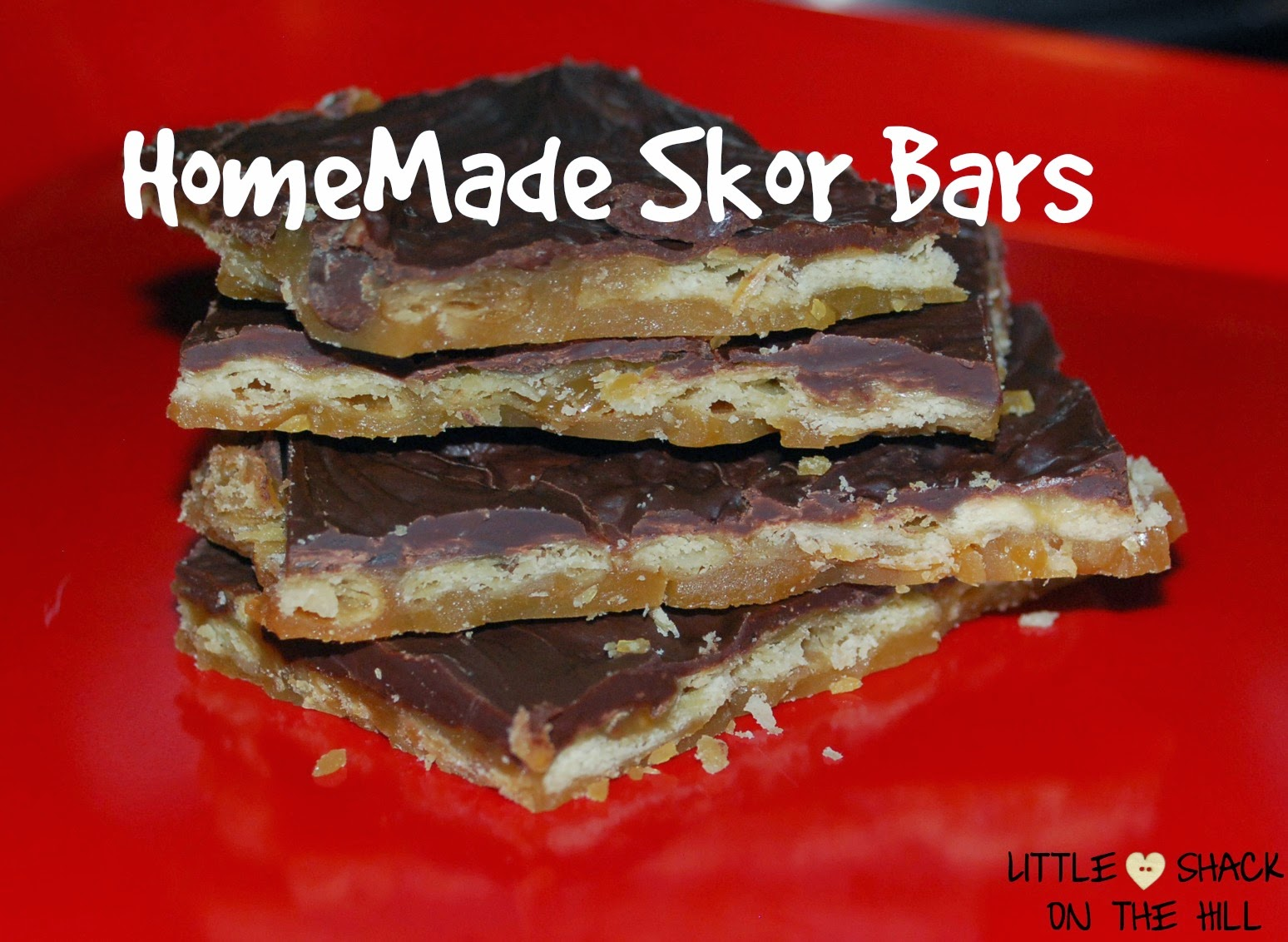 Homemade score bars, easy bars, skor