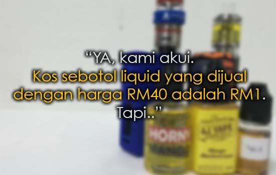 Jawapan Vapers Untuk Kenyataan Sharnaaz Ahmad Isu Modal Flavor RM1