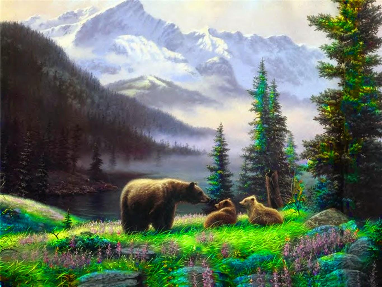 paisajes con osos