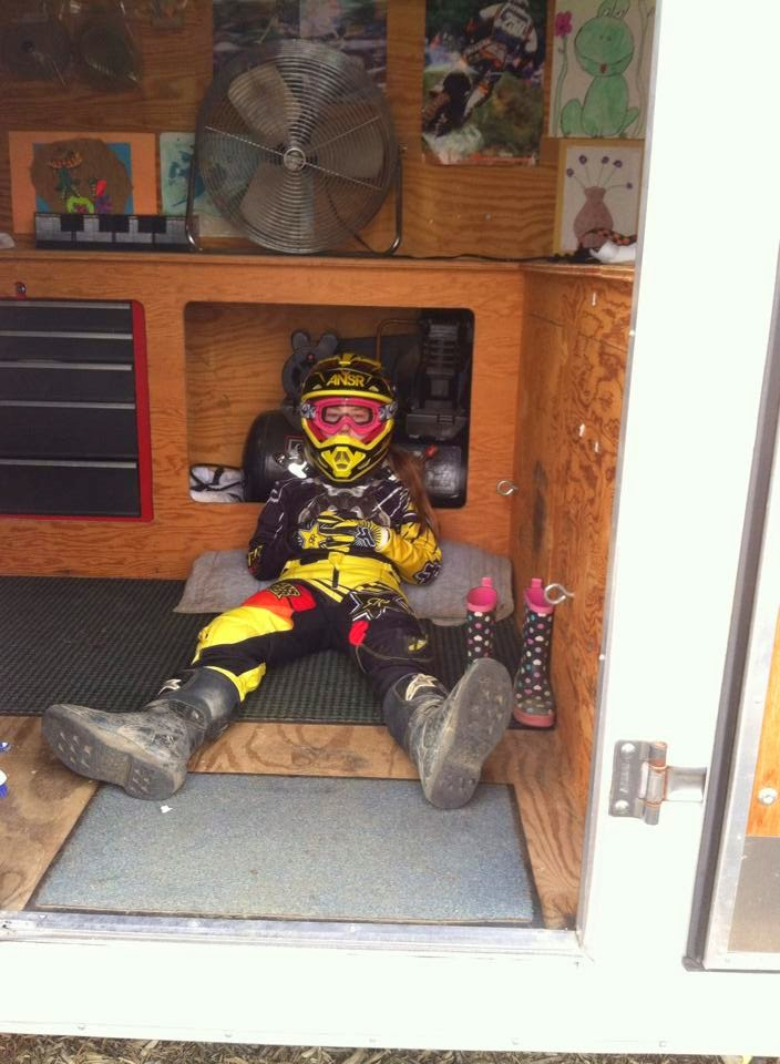 Jenna MacDonald getting ready for moto 1@ Millville, NJ D34 race on 4/19/15. Racing her DRR 90 rocket fast quad.#DRRUSA #DRR #DRRracing tired, girl, Jenna, moto 1, NJ,DRR90