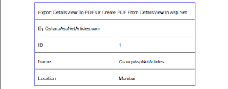 Create Export DetailsView To PDF