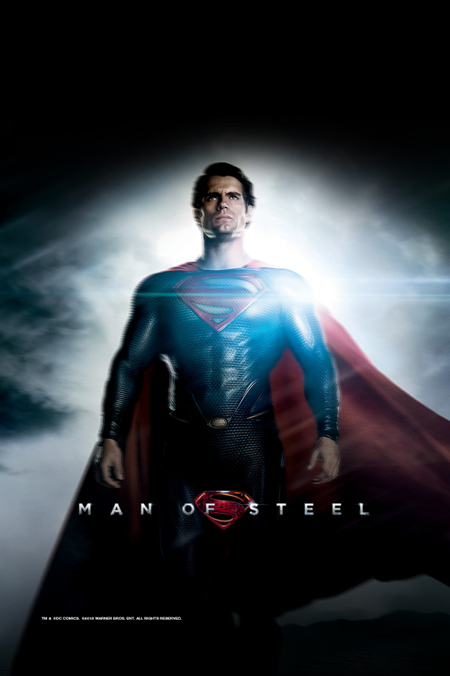 Man Of Steel Iphone HD Wallpaper