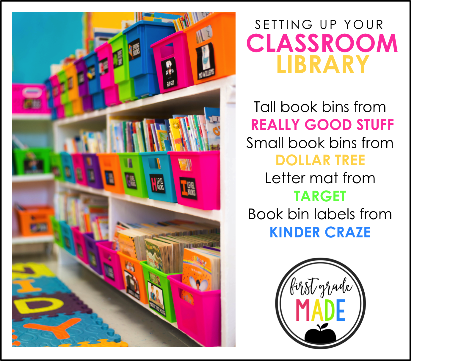 Setting up your classroom library first grade made i hope i was able to answer all of your questions and inspire you to begin shopping for your own library if i happened to miss something please feel free pronofoot35fo Images