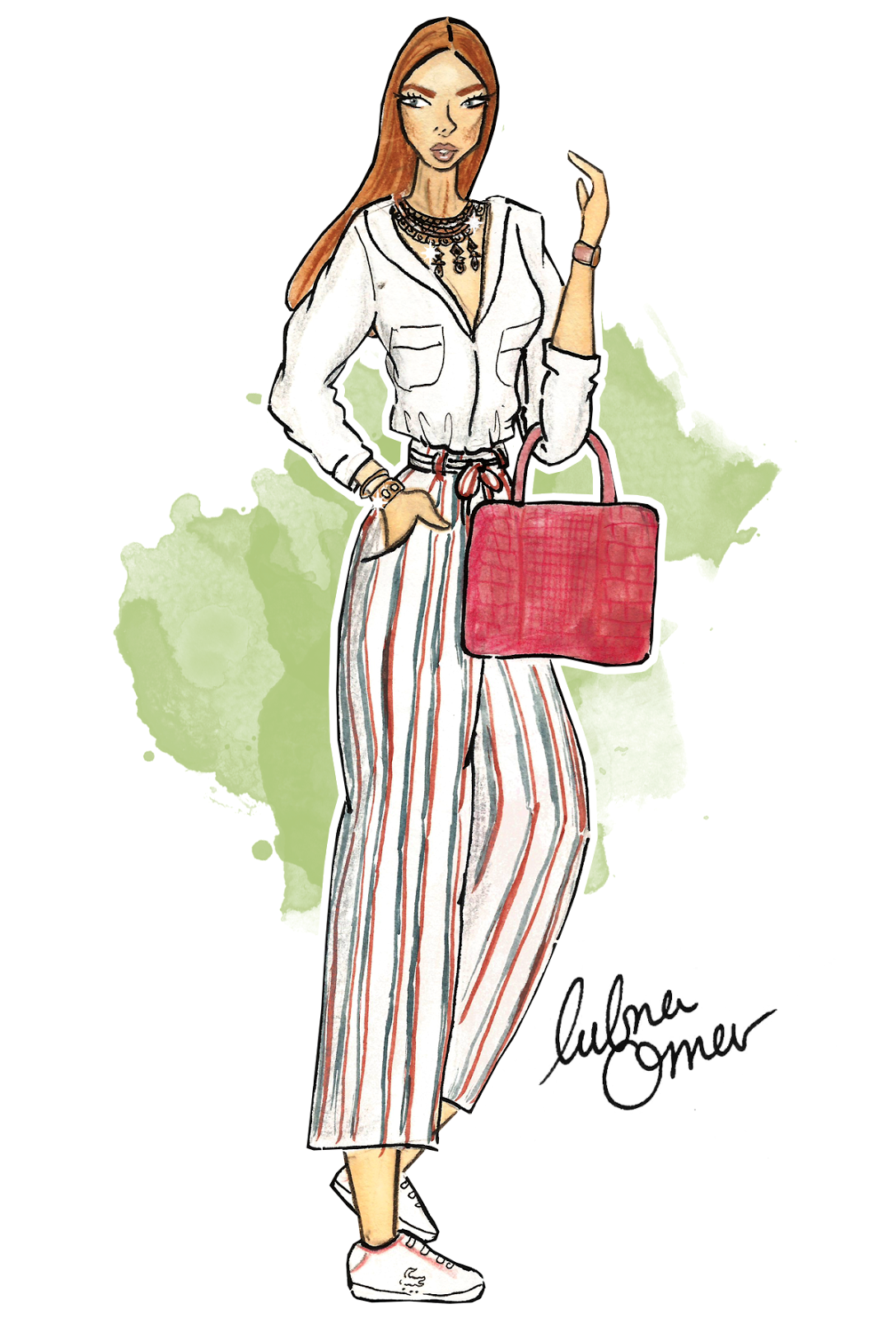 zaful online shopping culottes streetstyle inspiration lubna omar illustration