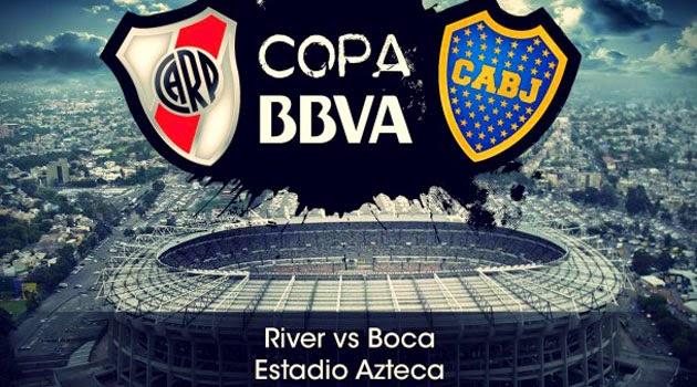Poster del clásico argentino entre Boca Juniors y el River Plate que se jugará en la Ciudad de México, en el estadio Azteca | Ximinia