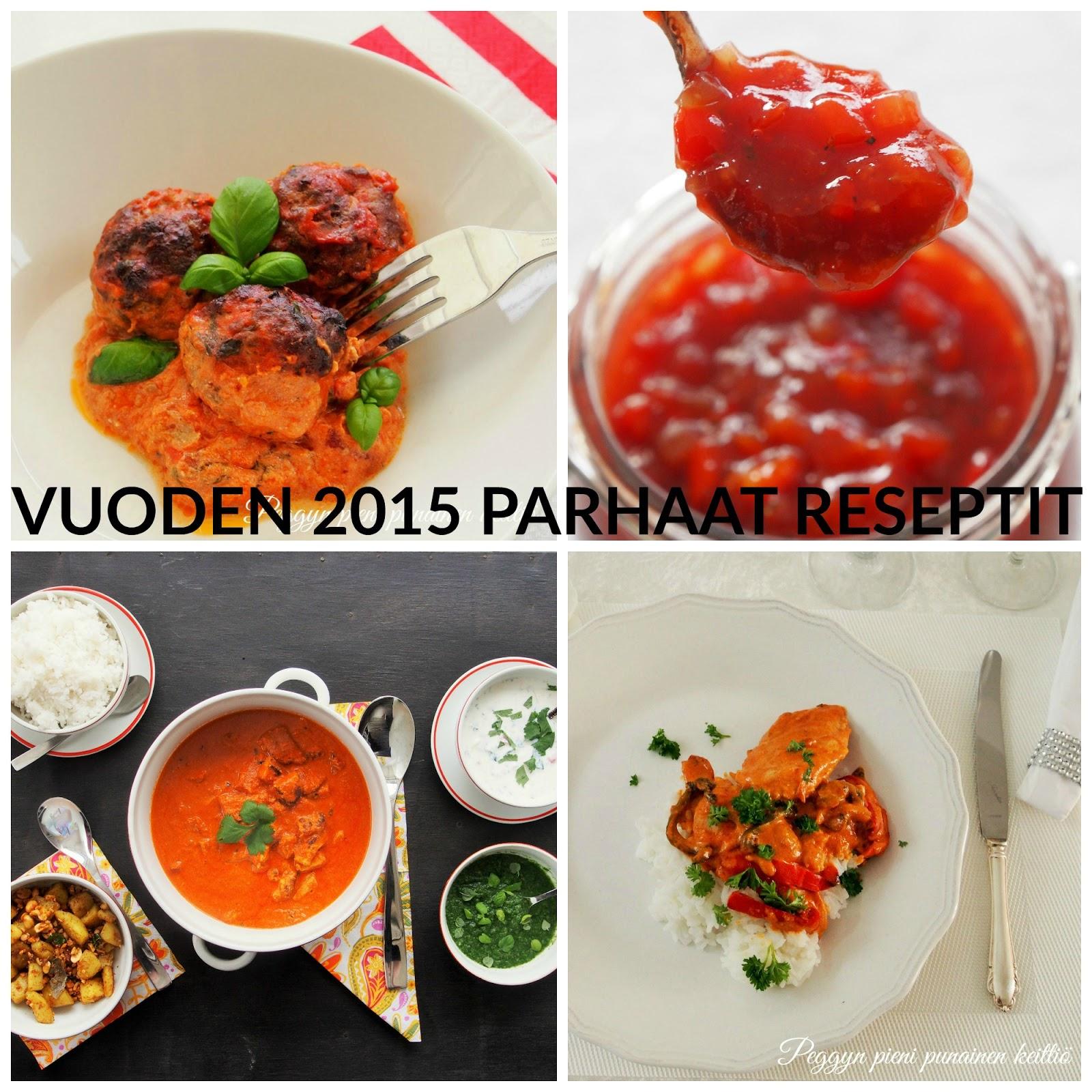 Vuoden 2015 parhaat reseptit  Peggyn pieni punainen keittiö
