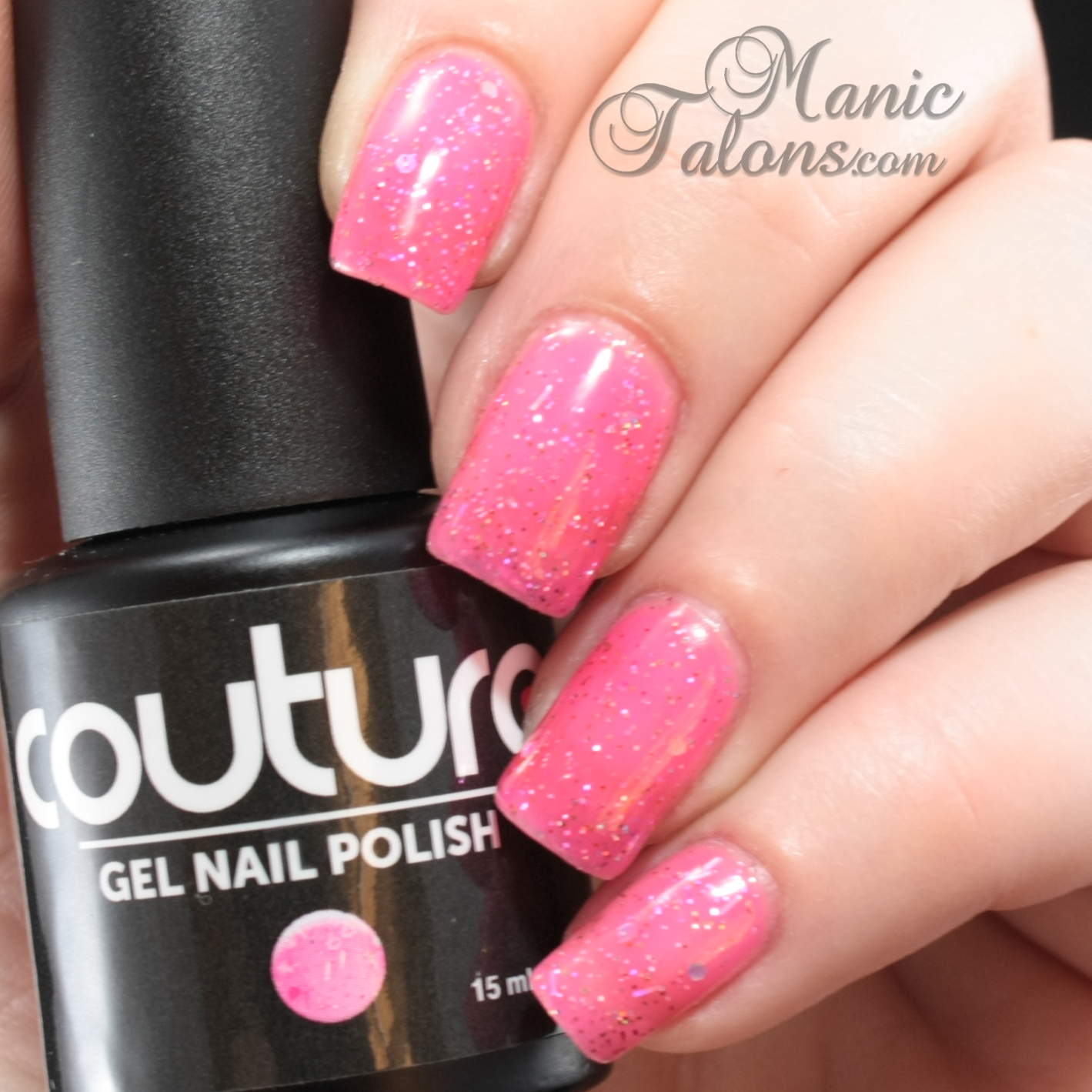 Couture Gel Polish All That Glitters Collection Material Girl Swatch