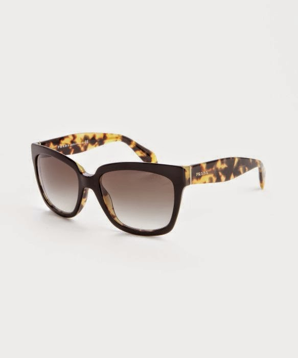 PRADA Black And Brown Leopard Print glasses