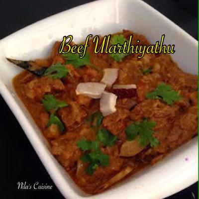 Beef  Ularthiyathu/Beef Roast