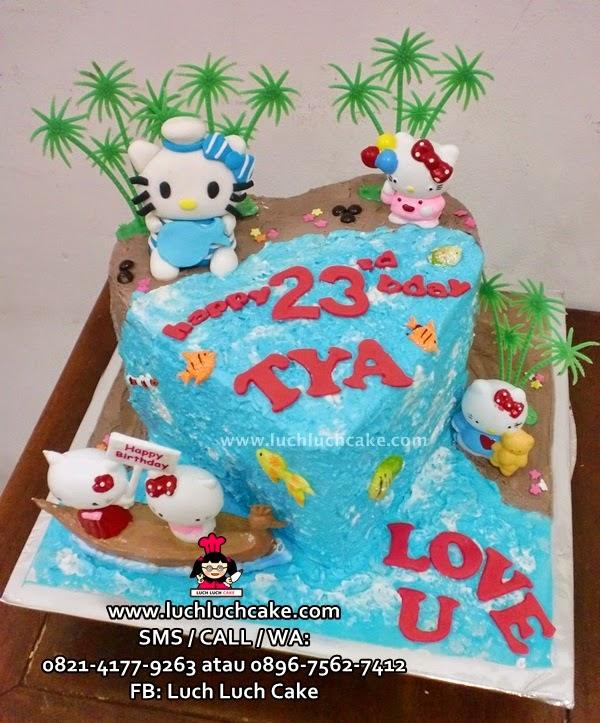 Kue Tart Hello Kitty Love Daerah Surabaya - Sidoarjo
