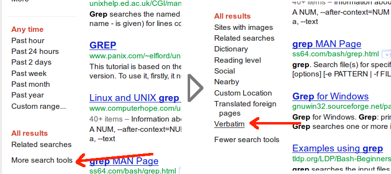 how to search google exact match