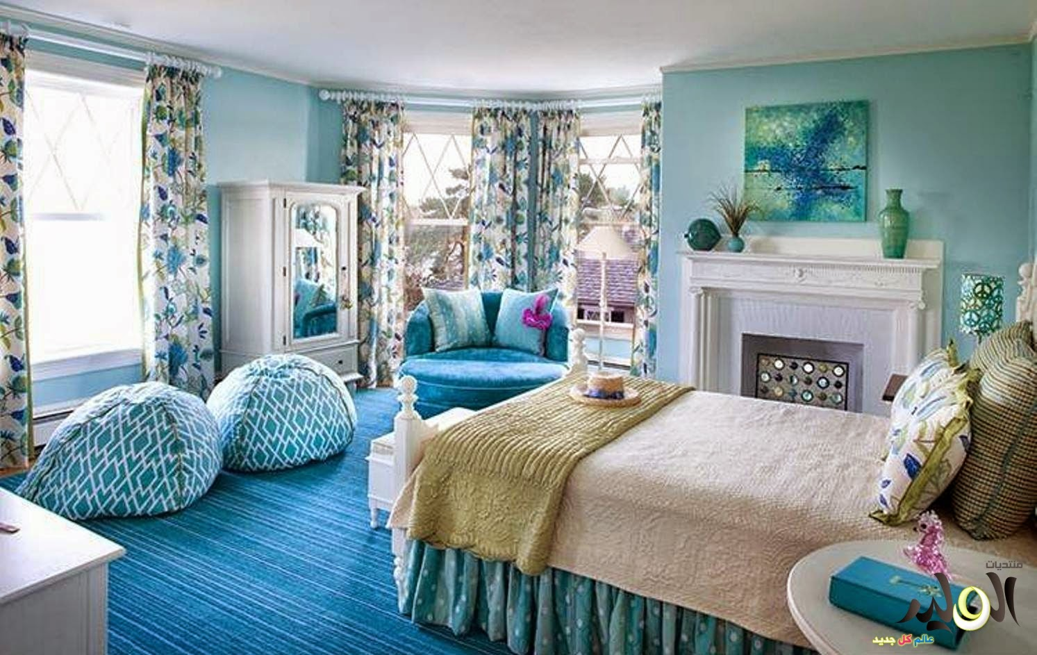 Sky Blue Bedroom Design And Ideas Calgary Edmonton