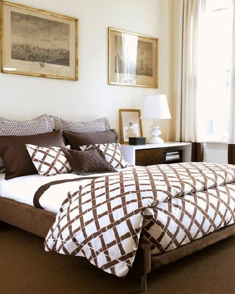 Dormitorios en Marrón Chocolate y Blanco  Decoración Dormitorios y