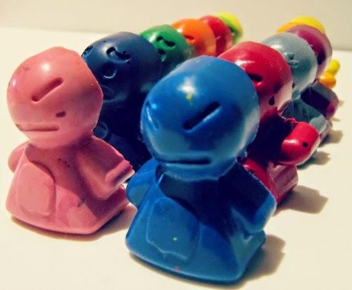 Presentación figuras con plastidecors o crayons