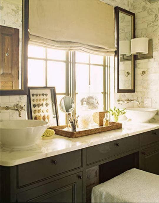 Traditional bathroom designs from house beautiful for Pictures of beautiful bathroom designs