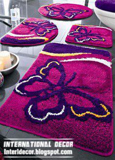 Great Pink Bathroom Floor Carpet, Butterfly Baths Rug Pink Model